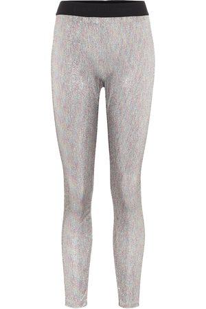 Paco rabanne Bodyline metallic knit leggings