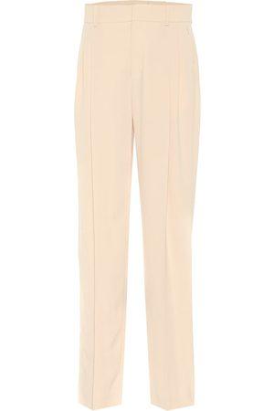 Chloé High-rise straight crêpe pants