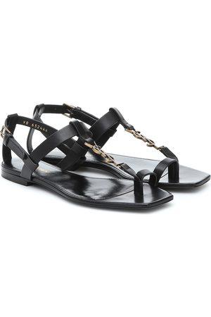 Saint Laurent Women Sandals - Cassandra leather sandals