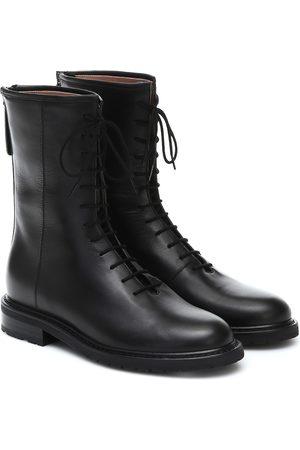 LEGRES Women Ankle Boots - Leather combat boots