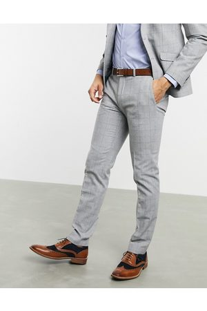 Shelby & Sons Slim suit trousers in check