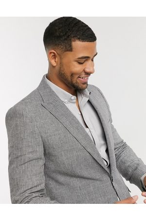 Shelby & Sons Slim suit jacket in mini check in mono