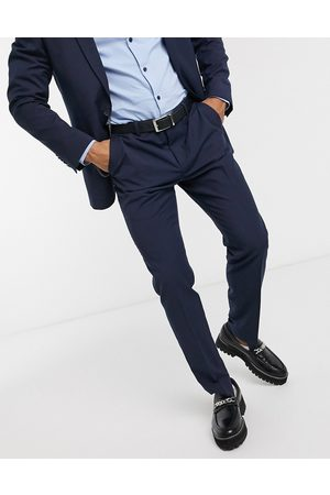 Shelby & Sons Slim suit trousers in navy
