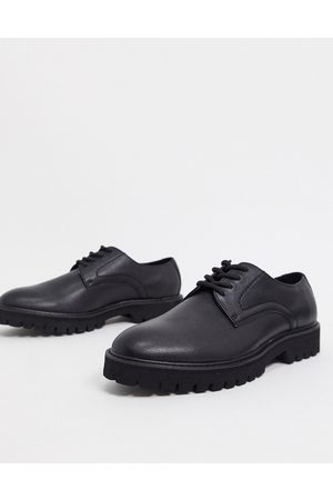 ASOS Derby lace up shoes in faux leather with sole