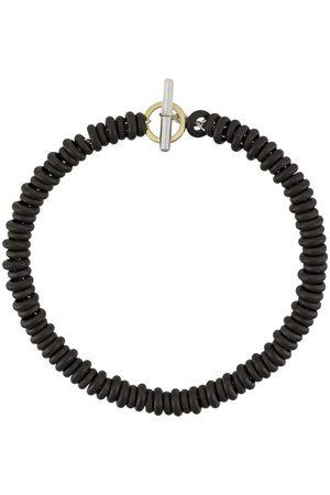 Dodo 18kt yellow gold and silver Rondelle titanium bracelet