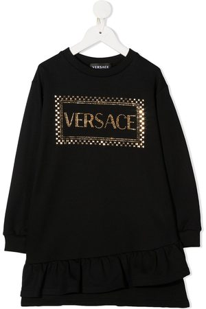 VERSACE Rhinestone logo jumper dress