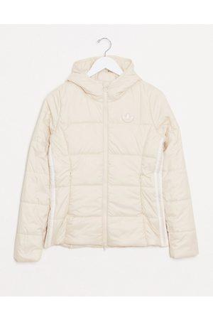 adidas Slim fit padded jacket in cream
