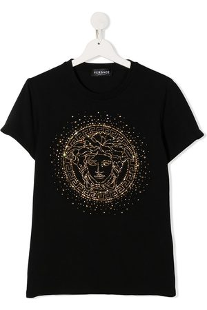 VERSACE Rhinestone-embellished Medusa T-shirt