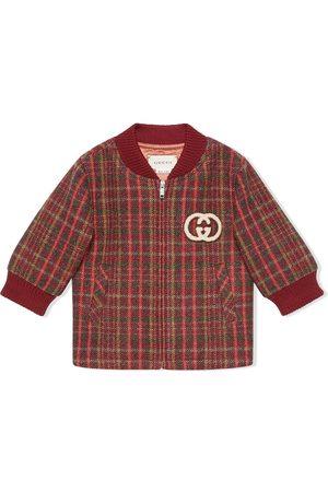 Gucci Boys Bomber Jackets - Check print bomber jacket