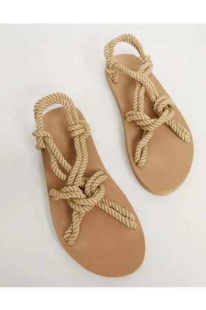 ASOS Sandals in natural rope