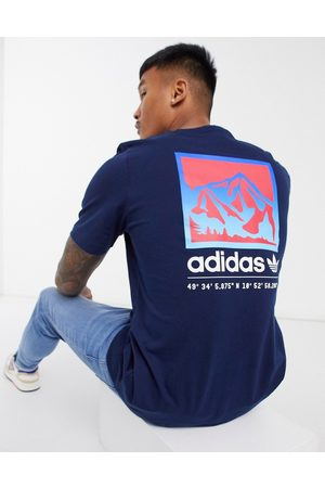 adidas Adiplore t-shirt with back print in