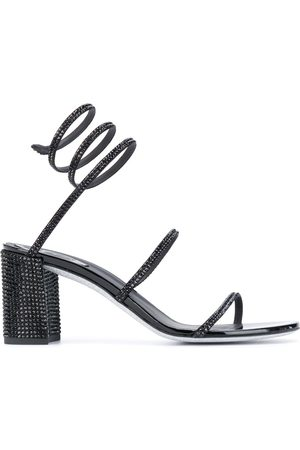 René Caovilla Spiked spiral-ankle sandals
