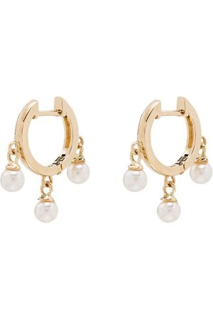 Mateo 14kt Trio pearl huggie earrings