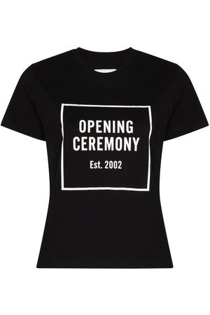 Opening Ceremony Box logo cotton T-shirt