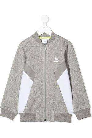 HUGO BOSS Colour-blocked zip-up sweatshirt