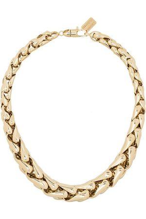 Lauren Rubinski 14kt square link necklace