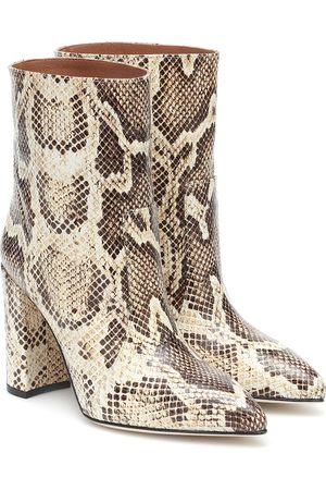 PARIS TEXAS Snake-effect leather ankle boots