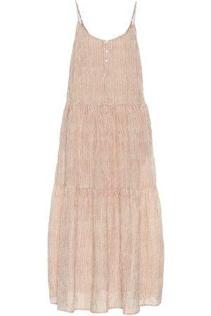Velvet Steffi striped cotton maxi dress