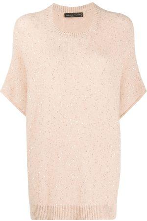 Fabiana Filippi Embroidered short-sleeve jumper