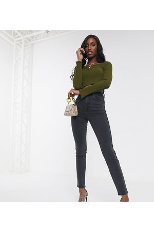 ASOS ASOS DESIGN Tall high rise farleigh 'slim' mom jeans in washed
