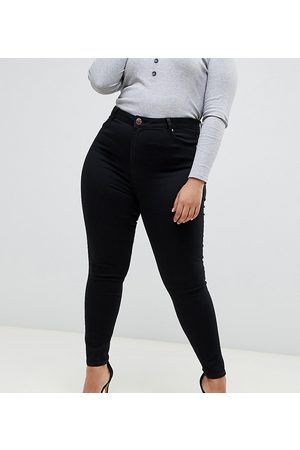 ASOS ASOS DESIGN Curve high rise ridley 'skinny' jeans in clean