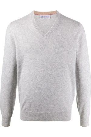 Brunello Cucinelli V-neck long-sleeved jumper