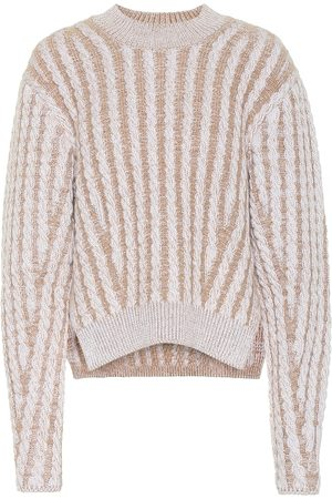 Chloé Women Jumpers - Cable knit wool and mohair-blend sweater