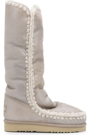 Mou Women Knee High Boots - Eskimo Tall metallic boots