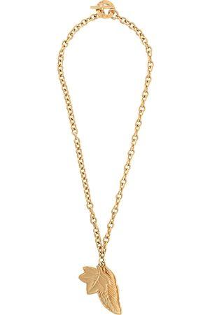 Céline 1980s pre-owned leaf pendant necklace