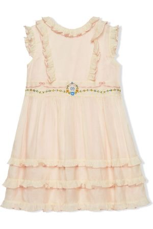 Gucci Ruffled embroidered party dress