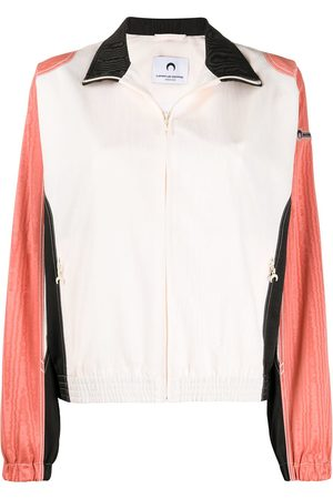 Marine Serre Colour block zipped bomber jacket