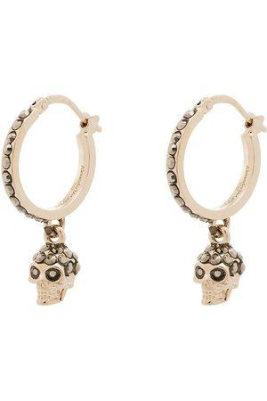 Alexander McQueen Gold-plated pavé diamond skull earrings