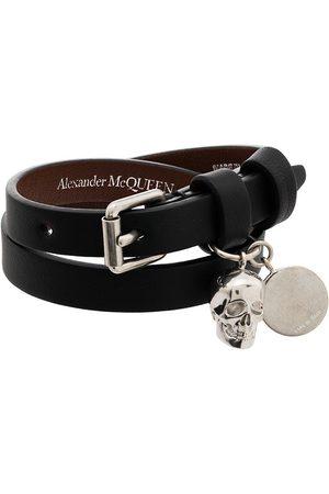 Alexander McQueen Women Bracelets - Double-wrap leather bracelet