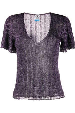 M Missoni Lurex knitted top