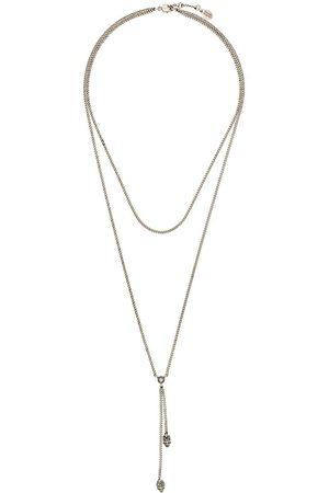 Alexander McQueen Double-wrap skull necklace