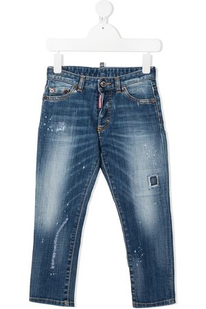 Dsquared2 Logo patch distressed jeans