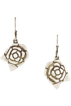 CHANEL Camelia flower earrings