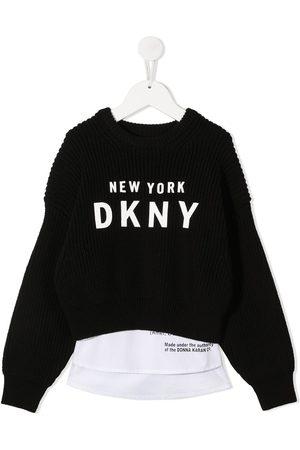 DKNY Logo print jumper