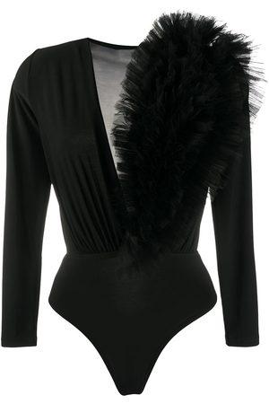 Alchemy Women Long Sleeve - Ruffled tulle bodysuit