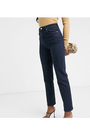 ASOS ASOS DESIGN Tall high rise 'slim' stretch straight leg jeans in darkwash