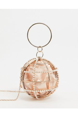 ASOS Cage sphere clutch bag with embellishment