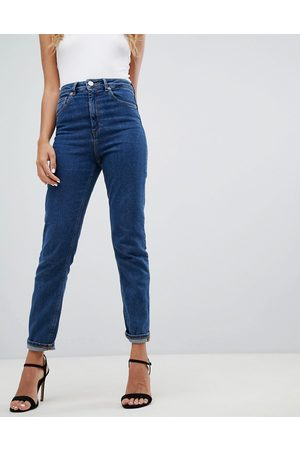 ASOS DESIGN Recycled high rise farleigh 'slim' mom jeans in flat