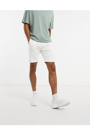 ASOS Co-ord jersey skinny shorts with pin tucks in