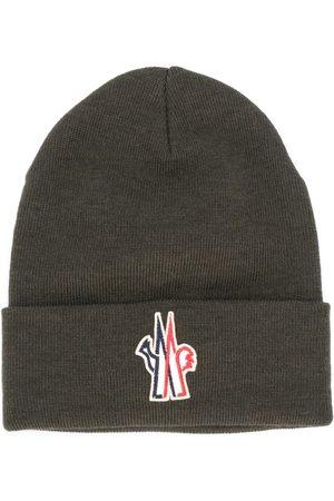 Moncler Logo patch virgin wool beanie