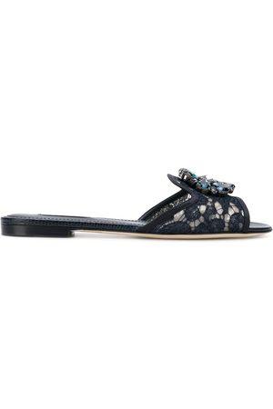 Dolce & Gabbana Women Sandals - Crystal-embellished lace sandals