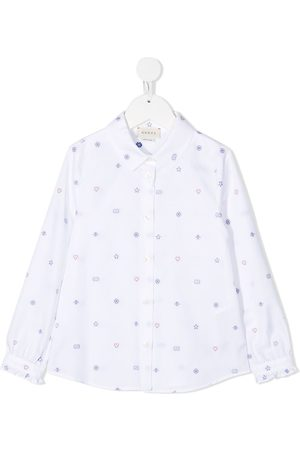 Gucci Embroidered cotton-shirt