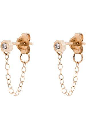 MELISSA JOY MANNING 14K diamond chain earrings