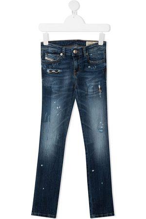 Diesel Straight-leg stonewashed jeans