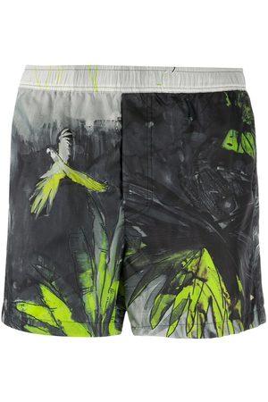 VALENTINO Tropical print swim shorts