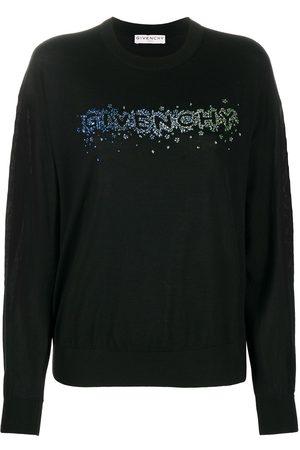 Givenchy Crystal-embellished logo jumper
